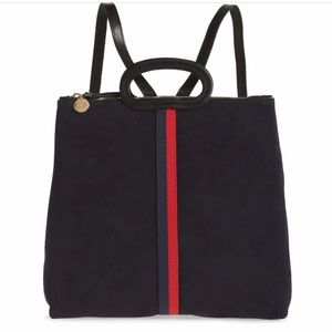 NWT Clare V. navy suede Marcelle backpack